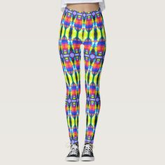 """40% OFF Leggings – Use CODE: ZAZAPPAREL40 'til Midnite  7-19-17. These leggings will give you an entirely new exotic look. Similar to the currently trending """"Ikat"""" style, this design blends abstract art, technology and psychedelia in a completely unique fashion. The origination image is from my Kinetic Collage """"Sweet Dreams"""" light show photos. Over 3000 products at my Zazzle online store. Open 24/7  World wide! This design is only…"""