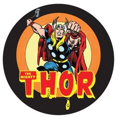 """Marvel Comics: Thor Pub Light- Reviving a god is a pretty astounding feat for any comic book company. Whether your child loves the new movies, or your partner whispers, """"What really happened was Dr. Donald Blake found a staff in a cave,"""" in a crowded movie theatre-- this pub light with a Silver Age rendition of Thor will be a thundering hit in your house. For Odin, for Asgard!"""