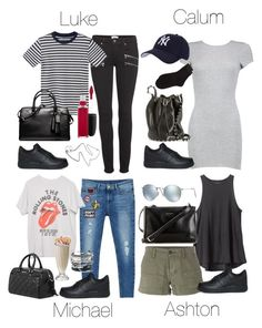 """""""5SOS Styles: NIKE Air Force Low in Black"""" by fivesecondsofinspiration ❤ liked on Polyvore featuring Paige Denim, MANGO MAN, MAC Cosmetics, Coach, NIKE, Alexander Wang, Hartford, Pieces, RVCA and Yves Saint Laurent"""