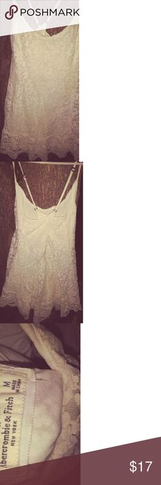 White lace Abercrombie and Fitch Dress/Shirt Flowy and elegant, true white, Abercrombie and Fitch short dress or long shirt. Abercrombie & Fitch Dresses Mini