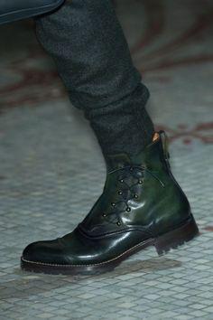 Berluti Men's Details A/W Awesome Black boots Mens Shoes Boots, Mens Boots Fashion, Men's Shoes, Shoe Boots, Dress Shoes, Altama Boots, Leather Men, Leather Shoes, Dress With Boots