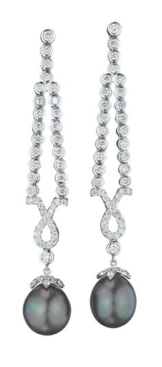 How lovely are these pearl and diamond earrings?? They sold in a recent auction at Phillips. How would you style them?