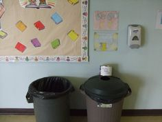 The student council operates the recycling program in this school. They have bins throughout the building and have a team of sorters who clean and package the recyclable items to be returned for refund.