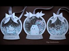 Building Your World: White Christmas - Day 21 - Snowglobe Shaker Tags - Diy Crafts - hadido Christmas Gift Tags, Xmas Cards, Handmade Christmas, White Christmas, Christmas Crafts, Christmas Decorations, Christmas Ornaments, Christmas Cards By Kids, Christmas Mantles
