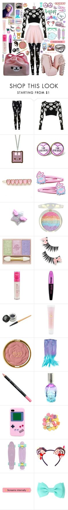 """""""How To Be A Pastel Goth 2"""" by aspiretoinspire22 ❤ liked on Polyvore featuring Nico, Paul & Joe, Jeffree Star, L'Oréal Paris, Hot Topic, Lancôme, Milani, Givenchy, Retrò and Amie"""