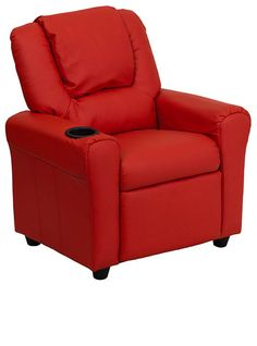 small red recliner - Small Leather Recliners