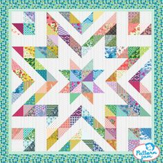 Star Lake Too - quilt patterns Star Quilt Blocks, Star Quilt Patterns, Star Quilts, Scrappy Quilts, Mini Quilts, Block Quilt, Free Baby Quilt Patterns, Sewing Patterns, Colchas Quilting