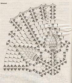 Crochet Doily Diagram, Crochet Chart, Filet Crochet, Crochet Motif, Crochet Doilies, Crochet Stitches, Crotchet Patterns, Doily Patterns, Crochet Potholders