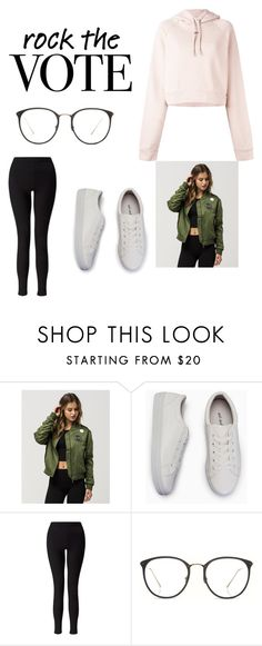 """""""ROCK THE VOTE"""" by slfetter ❤ liked on Polyvore featuring Young & Reckless, Miss Selfridge, Linda Farrow and Off-White"""