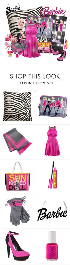"""""""dedicated to all barbie girls out there"""" by psylocke18 ❤ liked on Polyvore featuring Maison de Vacances, H&M, Chico's, Tokidoki, Michael Antonio, Estée Lauder, Essie, Juicy Couture, platform heels and sequins"""