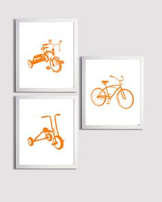 * Bicycle Art Customize to match your nursery or kids room  *frames not included    **image shown in low resolution, prints have clean lines with