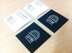 Últimos trabajos: impresión de tarjetas personales para Luvre - Cosmética Profesional