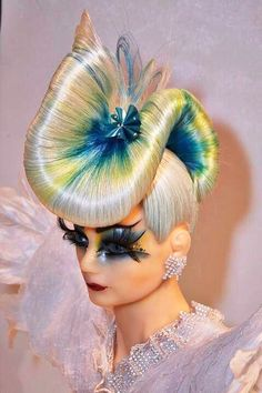 Avant Garde Great Hairstyles, Creative Hairstyles, Down Hairstyles, Fantasy Hairstyles, Crazy Hair, Big Hair, Burlesque Hair, Hair Expo, High Fashion Hair