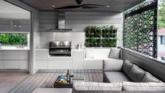 Indoor Barbeque Kitchen Interior Design by Sublime Architectural Interiors