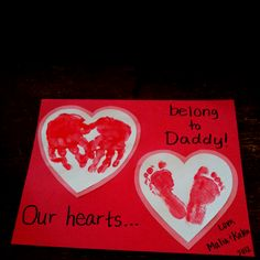Hands and feet hearts.. I need to do valentines from Adysen and Everett