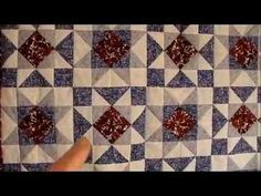 How to Quilt - Cog Star Quilt Pattern Video - Description at:  http://www.ludlowquiltandsew.co.uk/free-quilt-and-sew-patterns/free-quilt-patterns/cog-star-quilt-pattern/