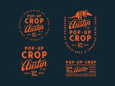 Created the identity system for Pop-Up Crop Austin. Exciting to see it live! The event is hosted by our very good friend Matt Dawson from Studio Gray and the juggernauts at Industry Print Shop.  Th...