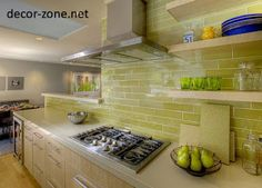 Great color subway tile.