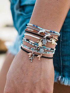Dolphin, Flamingo, Turtle found at Pura Vida Bracelets Puravida code for off Shop Pura Vida for the latest handmade bracelets and accessories. Beach Bracelets, Pura Vida Bracelets, Summer Bracelets, Cute Bracelets, Summer Jewelry, Beach Jewelry, Cute Jewelry, Handmade Bracelets, Boho Jewelry