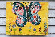 Children's Wall Art Print 11x14 butterfly by loverainbowsprinkles, $25.00