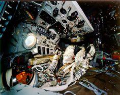 The interior of Shepard's Freedom 7 capsule.
