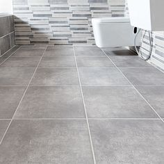 Where concrete finishes were previously too much work, Johnson Tiles now introduce inkjet printing that allows for a concrete look to be printed onto ceramic and porcelain tile bodies