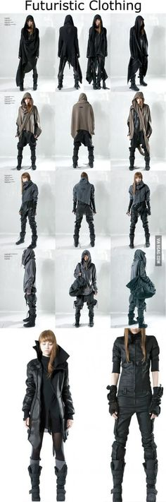 Futuristic Clothing; I'd so wear these, particularly the last lot.
