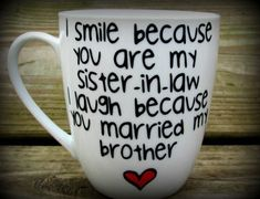 Sister In Law Gift Mug Wedding Personalized Coffee