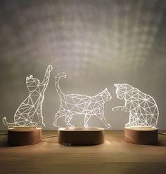Home Decor – Decor Ideas – decor Wall Rack Design, Lampe 3d, Photo Lamp, Concrete Light, Laser Cutter Ideas, 3d Laser, Wood Lamps, Light Project, Light Art