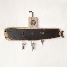 Driftwood submarine 40 cm