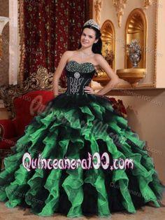 Verde con negro