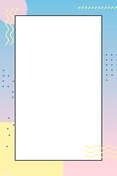 Pastel Memphis Pinterest post vector | premium image by rawpixel.com / nunny Geometric Wallpaper Background, Instagram Frame Template, Crying Emoji, Blog Banner, Memphis Pattern, Doodle Art Journals, Memphis Design, Notes Design, Background Templates