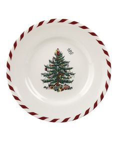 Take a look at this Christmas Tree Peppermint Canapé Plate - Set of Four by Spode on #zulily today!