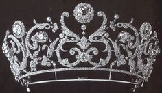 Tiara Mania: Diamond Floral Tiara by Boucheron for Princess Maria Abamelek Lazarev