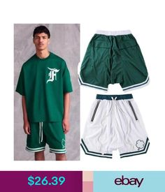 debc1454221eb Shorts Justin Bieber Fog Fear Of God Collection Mesh Shorts Basketball  Running Pants  ebay