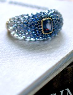 """The Art of the Sea"" Tiffany & Co. 2015 Blue Book - Tiffany designers and stone setters arranged sapphires and white diamonds to evoke the colors of water at various depths."