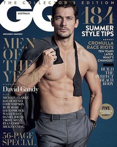 David Gandy covers GQ Australia's Men of the Year issue.