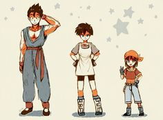 Gohan, Videl, and there Future daughter Pan
