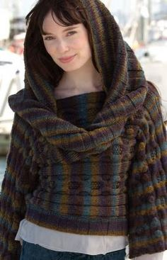 Hand Knit Hoodie  Knit Pull Over with Over Sized by KnuttinButYarn, $289.99