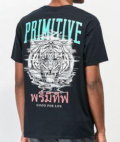 M,L,XL Men/'s Primitive Skateboard Apparel Blue Rose Tee T-Shirt Pink//Blue