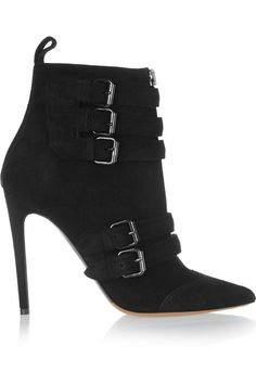 Love this by TABITHA SIMMONS Buckled Suede Ankle Boots - $1075