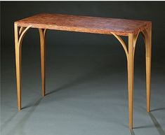 Burl And Red Oak Table By Yoshy Pineles To Make The S Thin Top Stiff