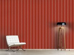 Design #Tapete Blatt Streifen Cottage, Curtains, Design, Home Decor, Self Adhesive Wallpaper, Stripes, Wall Papers, Blinds, Decoration Home