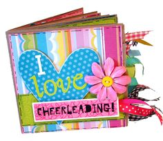 Cheerleading Premade Paper Bag Scrapbook by apicketfencelife