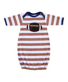 Look what I found on #zulily! Haute Baby Brown Stripe Football Gown - Infant by Haute Baby #zulilyfinds