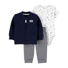 Baby Set, Jüngstes Kind, Grey Joggers, Carters Baby Boys, Affordable Clothes, Adidas Jacket, Zip Ups, Kids Outfits, 3 Piece