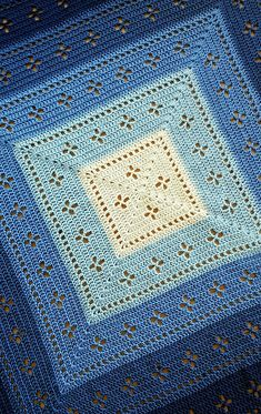 Filet Crochet 46577 Ravelry: Vintage Vibes Blanket pattern by The Crochet Fix Baby Afghan Crochet, Afghan Crochet Patterns, Crochet Stitches, Crochet Borders, Stitch Patterns, Cross Stitches, Crochet Squares Afghan, Crochet Granny, Granny Squares