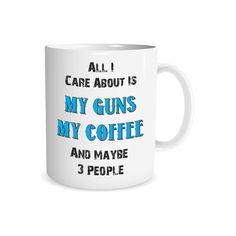 Gun Coffee Mug 2nd Amendment Mug Gun Rights Gun by HumorWarehouse