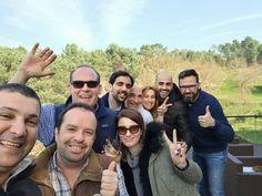 Spain...Poland...US and... Portugal visiting the beautifull Soalheiro Terroir. Boa energia com um dia de Sol radiante!