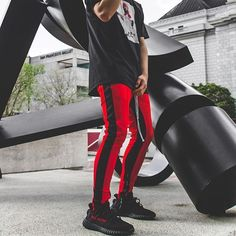 Retro Pants // Red/Black // Available now at @longlineclothingstore https://ift.tt/2gsb5sd